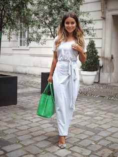 """Made In Chelsea star Louise Thompson spotted wearing the SilkFred """"Marl Wrap"""" Dress . I Love Fashion, Unique Fashion, Fashion Beauty, Women's Fashion, Chelsea Girls, Made In Chelsea, Casual Day Outfits, Work Outfits, Louise Thompson"""