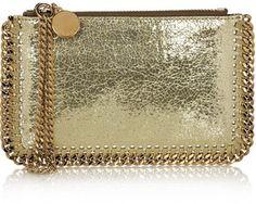 Stella McCartney Falabella metallic faux leather pouch on shopstyle.com