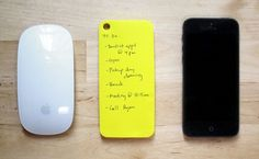 post-it-note paperback case for iPhone 5 - designboom   architecture