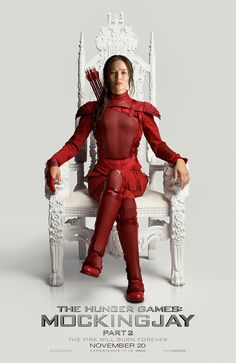 The Hunger Games has been my favourite film franchise so far it's amazing. I like the way Katniss is sitting on the throne like a leader... that's what she truly is