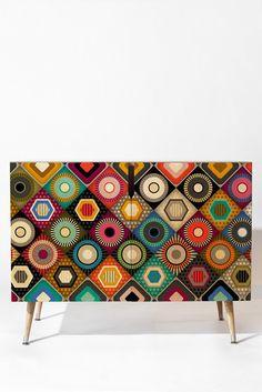 Sharon Turner festival diamond Credenza   DENY Designs Home Accessories #denydesigns #credenza #furniture #festival #boho #bohemian #colorlove #geo #geometric