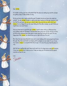 Free Shipping Fully Personalized Santa Letter By Ezsantaletters