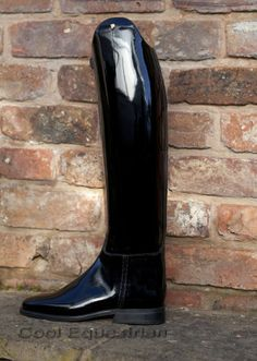 These Petrie Boots in Black Patent are absolutely gorgeous and we have them in stock.  The outside is all patent and the foot is patent,