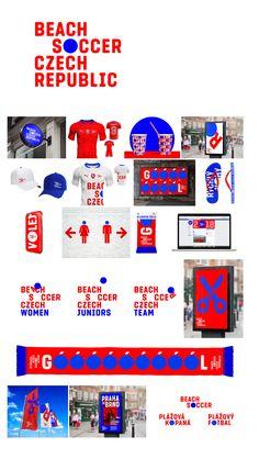 Beach Soccer Czech Republic Identity Corporate Identity Design, Brand Identity Design, Graphic Design Branding, Visual Identity, Self Branding, Event Branding, Conference Branding, Stationary Branding, Brand Promotion
