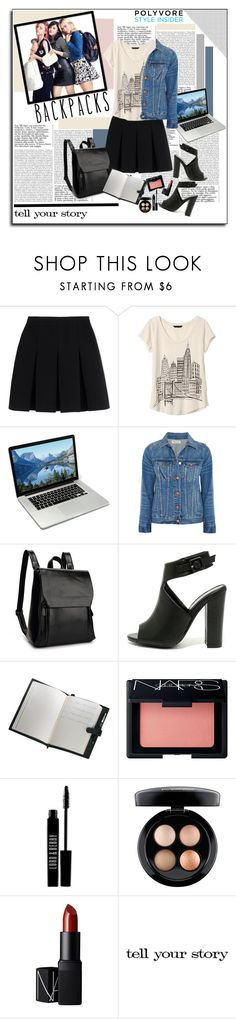 """BACKPACKS"" by polybaby ❤ liked on Polyvore featuring Kipling, Alexander Wang, Banana Republic, Madewell, Liliana, Royce Leather, NARS Cosmetics, Lord & Berry, MAC Cosmetics and Tim Holtz"