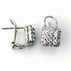 Silver Earrings w/ CZ