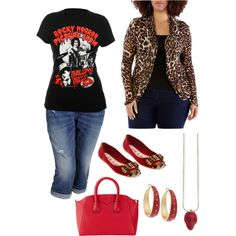 Fun and funky plus size style., created by hamtowntracey on Polyvore