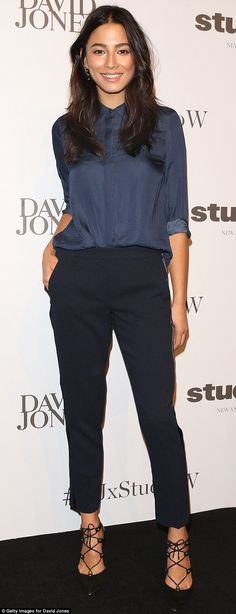 Putting her best foot forward:Jessica Gomes attended the Studio. W launch at David Jones'...
