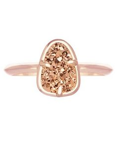 rose gold and rose gold druzy ring  http://rstyle.me/n/wby2npdpe