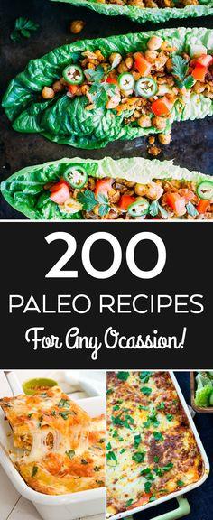 Over 200 paleo recipes here