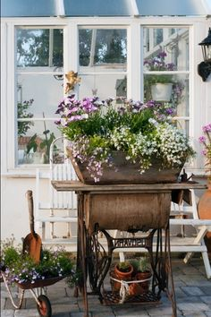 Pretty and rustic containers!!