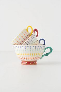 Tea Time Measuring Cups #anthropologie