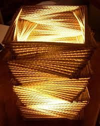 Resultado de imagen para lamparas de carton diseño