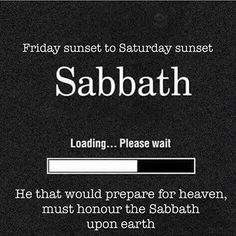 Happy Sabbath! #AllPraisesToTheMostHigh