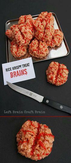 Rice Krispie treat brains