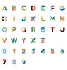 色の組み合わせがかわいいアルファベット。いいな。
