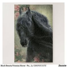 Black Beauty Friesian Horse - Puzzle Custom Gift Boxes, Customized Gifts, Make Your Own Puzzle, Photo Composition, Friesian Horse, Black Beauty, High Quality Images, Vibrant Colors, Horses