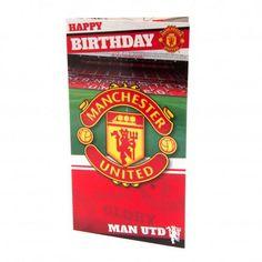 Κάρτα γενεθλίων Stadium Manchester United F. Manchester United Old Trafford, Manchester United Fans, Happy Birthday Dad, Dad Birthday Card, Football Memorabilia, European Soccer, Uk Football, Man United, Liverpool Fc