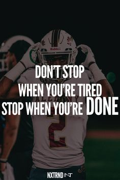 Others stop when they're tired. We stop when we're done. #FootballQuotes #SportQuotes #Motivation #Inspiration #Football #Nxtrnd #Athlete #Mouthguard #Sports Bag Quotes, Life Quotes, Best Football Quotes, Muhammad Ali Wallpaper, Football Motivation, Motivational Quotes For Athletes, Hype Wallpaper, Football Gloves, Mouth Guard