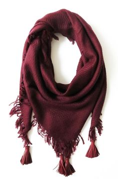 DOUCE GLOIRE Cashmere Scarf in Burgundy -
