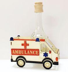 Ambulance, Christmas Ornaments, Holiday Decor, Home Decor, Liquor, Homemade Home Decor, Christmas Jewelry, Christmas Ornament, Interior Design
