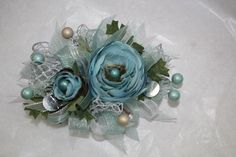 Prom wrist Corsage made by: Gallery Florist and Gifts, Inc., Mebane, NC. wwwgalleryfloristandgifts.com