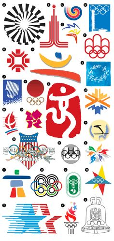 past Olympic logos