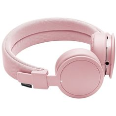 Urbanears Light Pink Plattan Bluetooth Headphones (£49) ❤ liked on Polyvore featuring fillers, accessories, electronics, fillers - pink, pink fillers, accessories /, kirna zabete and tech