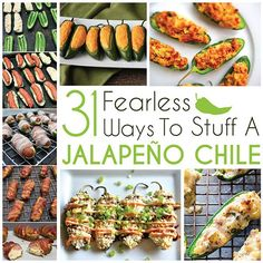 The best DIY projects & DIY ideas and tutorials: sewing, paper craft, DIY. DDIY Food & Recipe For Party 31 Fearless Ways To Stuff A Jalapeño Chile -Read Mexican Food Recipes, New Recipes, Cooking Recipes, Favorite Recipes, Healthy Recipes, Drink Recipes, I Love Food, Good Food, Yummy Food