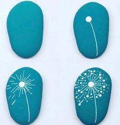 Stone Art Painting, Dot Art Painting, Pebble Painting, Pebble Art, Rock Painting Patterns, Rock Painting Ideas Easy, Rock Painting Designs, Stone Crafts, Rock Crafts