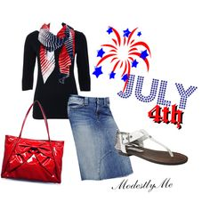 """**July 4th**"" by modestlyme on Polyvore ~"