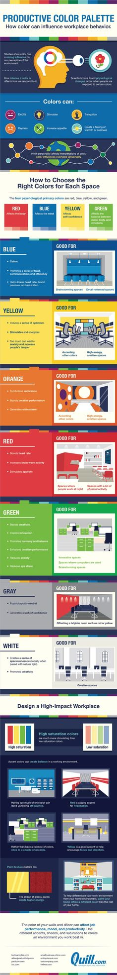 These Are The Best Office Colors For Working More Productively