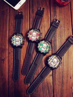Aliexpress.com: Comprar Fashion Graffiti Estilo Gran Dial Correa de Caucho Núcleo Japón Análogo de Cuarzo Reloj de Pulsera Horas…
