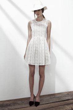 SHUFFLE CREPE DRESS IN ORGANIC WHITE. www.fallwinterspringsummer.com Fall Winter Spring Summer, Winter Springs, Crepe Dress, White Dress, Organic, Collection, Dresses, Fashion, Vestidos