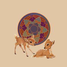 鳅鲪  的插画 小鹿练习2