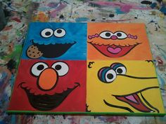 16 X 20 Canvas Wall Art: Sesame Street, Ready to Hang.. $14.00, via Etsy.