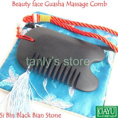 Find More Massage & Relaxation Information about Free shipping! Natural Si Bin Black Bian Stone Traditional Acupuncture Beauty face Massage Guasha comb High quality!,High Quality face massage,China comb massager Suppliers, Cheap face mask massage from Tanly's store on Aliexpress.com