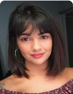 TOP 46 Medium Length Bob Hairstyle for Curly and straight Hair - The First-Hand Fashion News for Females Medium Length Hair With Bangs, Medium Length Bobs, Medium Thin Hair, Long Hair With Bangs, Medium Hair Styles, Curly Hair Styles, Shorter Hair, Medium Lengths, Thin Straight Hair