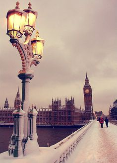 London Winter. I had never experienced such bitter cold in Jan. Loved it though.