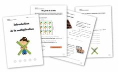 Dossier d'introduction à la multiplication - 5ème Harmos Multiplication And Division, Classroom, Teaching, Cycle 3, Logo, Manualidades, Preschool Classroom, Index Cards, Class Room