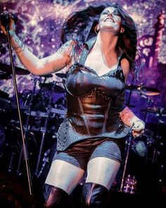 Which outfit is your favourite? Metal Sinfônico, Metal Bands, Female Guitarist, Female Singers, Heavy Metal Girl, Women Of Rock, Symphonic Metal, Rock Festivals, Goth Women