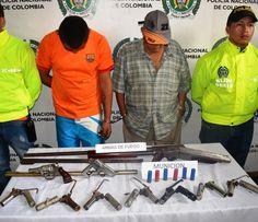 En Santa Rosa de Cabal 2 personas fueron capturadas y deberán responder el delito de fabricación, tráfico, y porte de armas de fuego o municiones