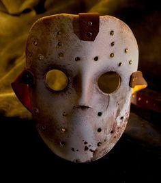 Handmade Leather Art Mask Jason costume Friday by MonkeyDungeon, $119.99
