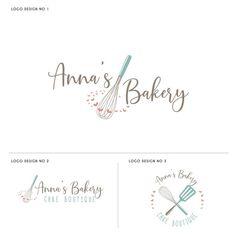 handgemachtes Logo Annas Bakery logo on Etsy Business Branding, Logo Branding, 2 Logo, Branding Design, Brand Identity Design, Business Marketing, Cake Branding, Bakery Business, Corporate Branding