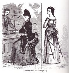 Victorian Invention: Combined Bustle and Stool 1887