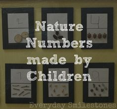 Nature Numbers Made by Children | Everyday Smilestones