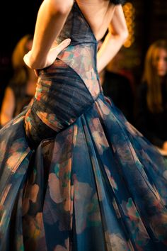 Zac Posen Spring 2013 - wow look at that detail. #fashion #runway