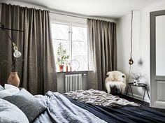 Cortinas en lino gris