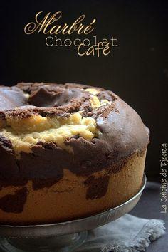 Recette gateau marbré chocolat café facile Sweet Recipes, Cake Recipes, Dessert Recipes, Gateau Cake, Cake Cafe, Cake Factory, Marble Cake, Brownies, Just Cakes