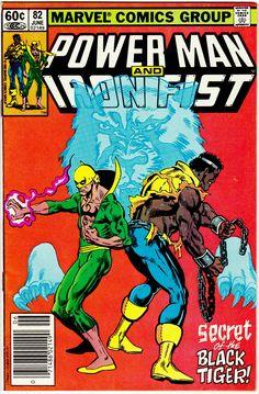 Power Man and Iron Fist 82 June 1982 Marvel Comics Marvel Comics Art, Marvel Comic Books, Comic Book Heroes, Comic Books Art, Comic Art, Spiderman Marvel, Marvel 3, Marvel Series, Marvel Characters